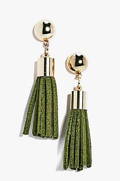 Alice PU Tassel Statement Earrings