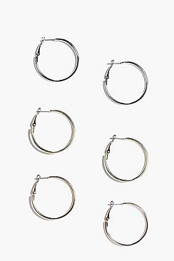 Hollie Mixed Hoop Earring Set