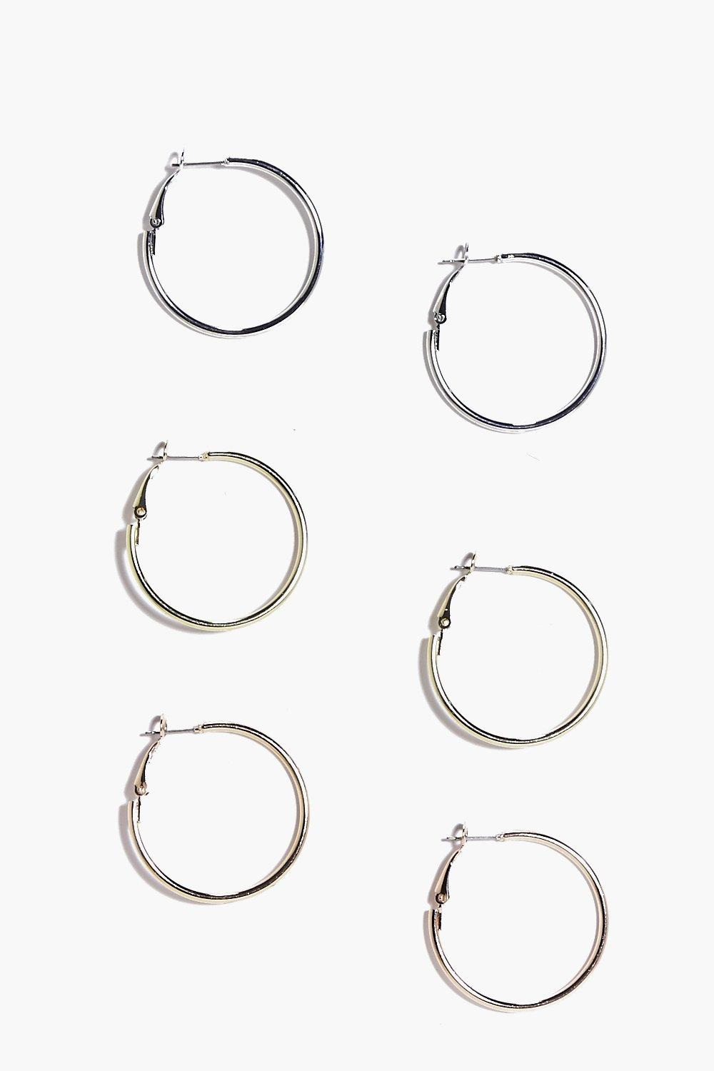 Hollie Mixed Hoop Earring 3 Pack