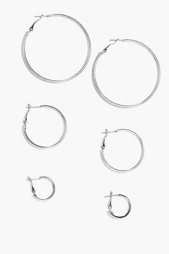 Eliza Mixed Size Hoop Earring Set
