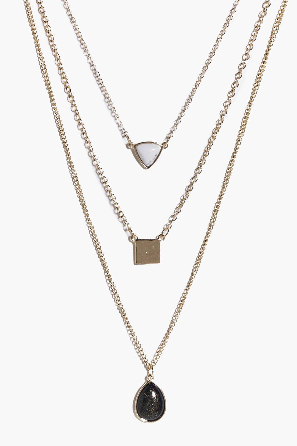 Keira Stone Pendant Layered Necklace