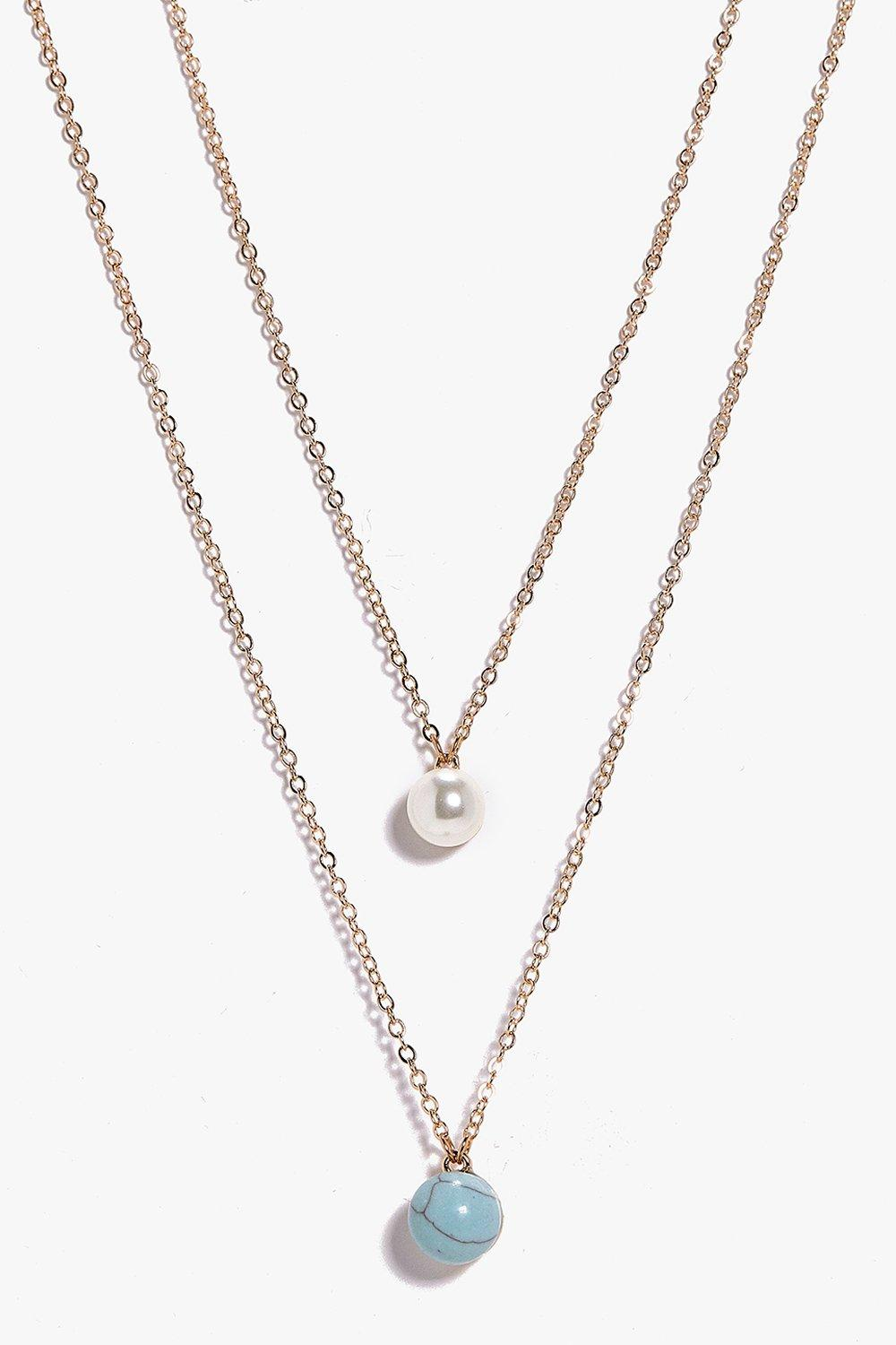 Julia Pearl Pendant Layered Necklace