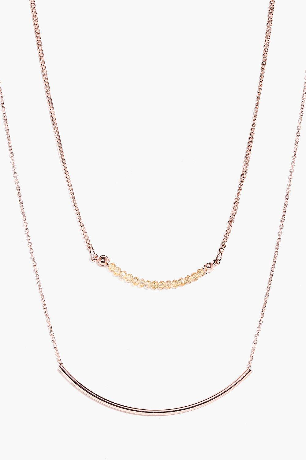 Annabelle Curved Bar Layered Necklace