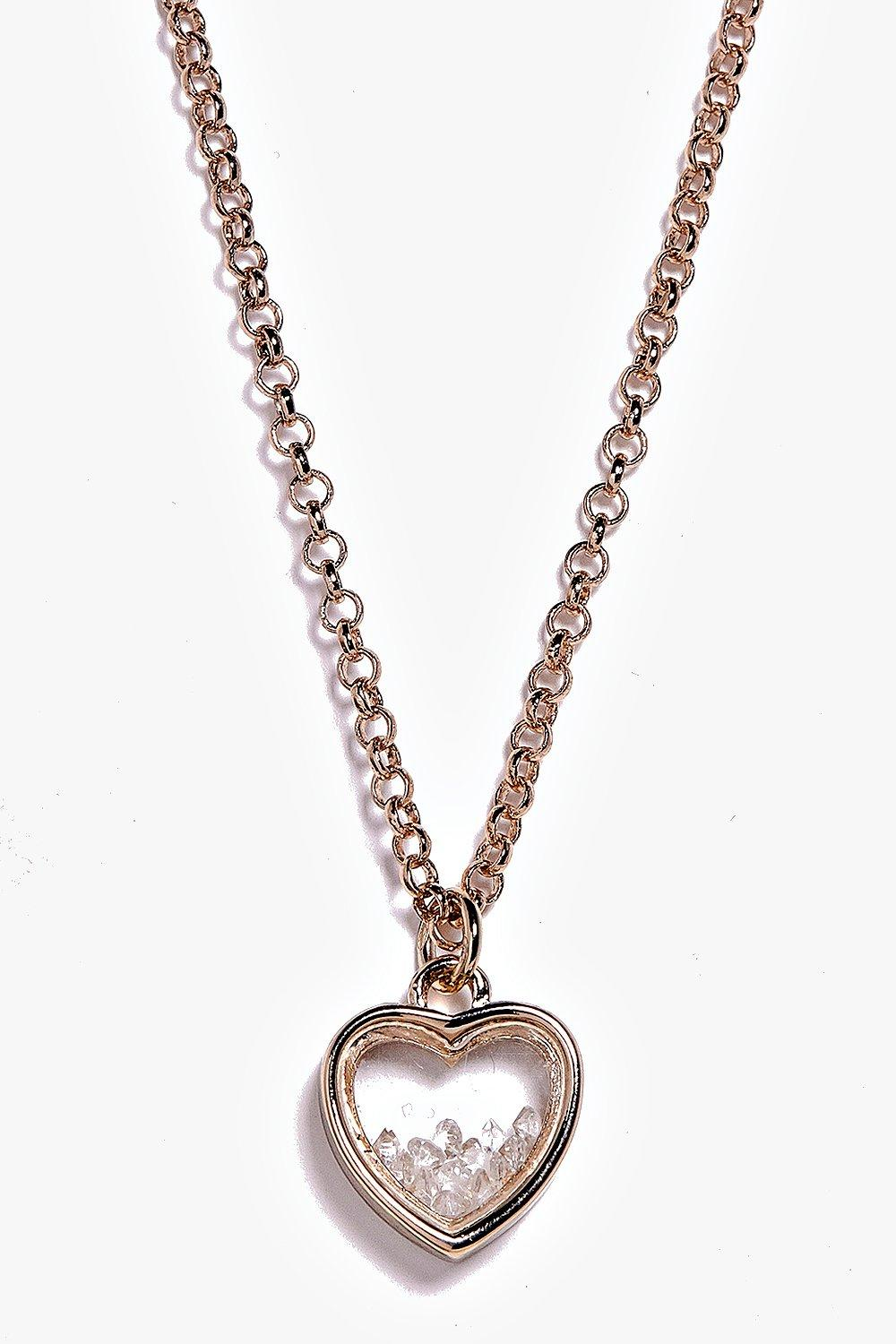 Esme Heart Pendant Skinny Necklace