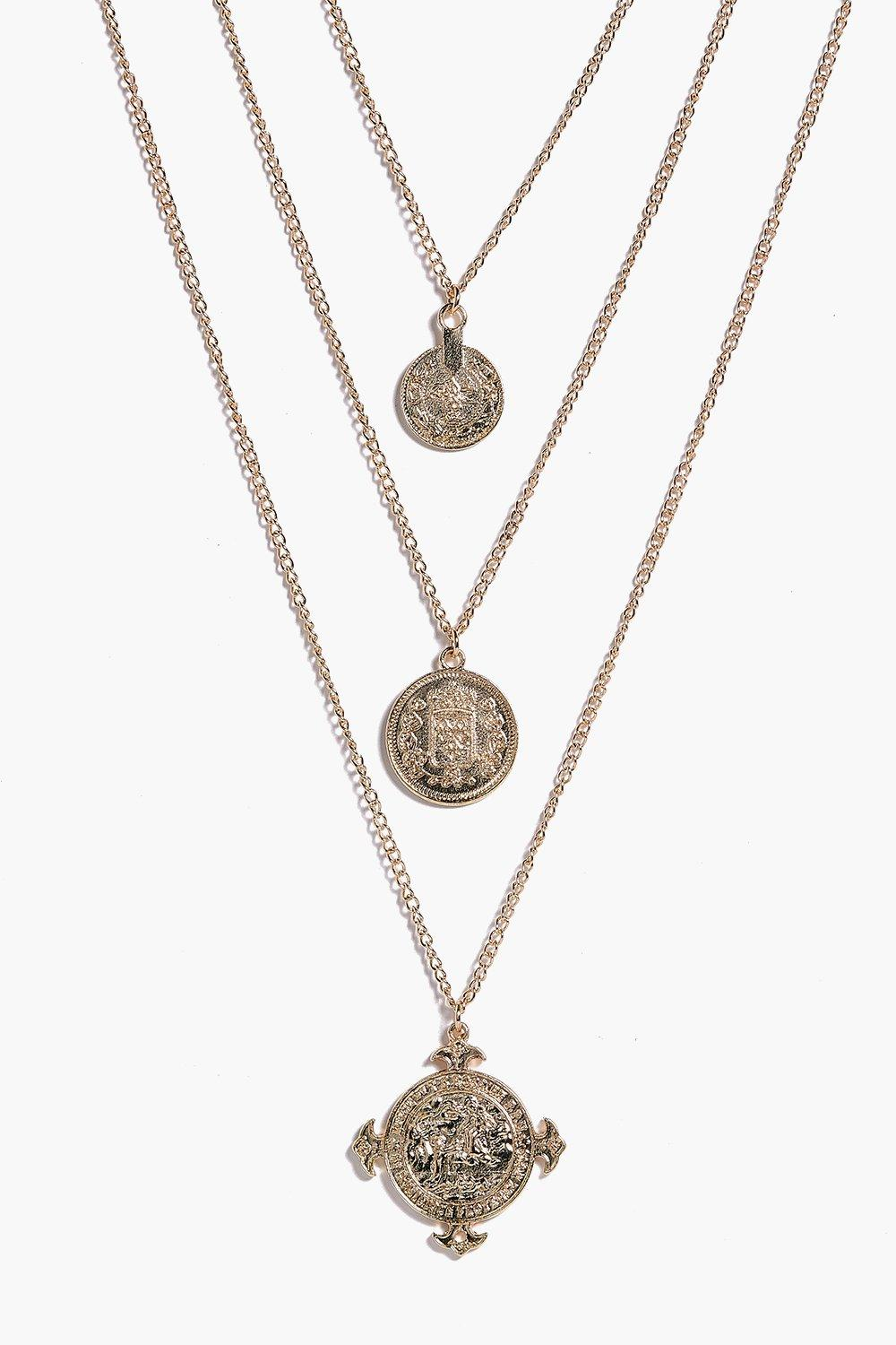 Zoe Coin and Embellished Layered Necklace