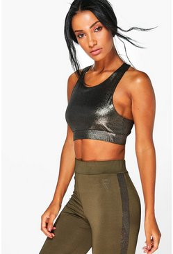 Lyndsay FIT Metallic Sports Bra