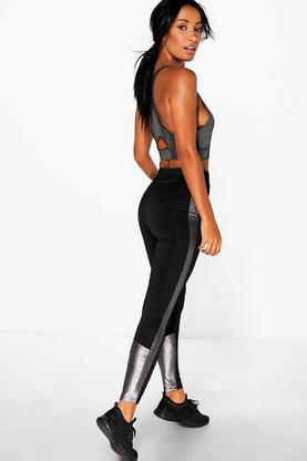 Kate FIT Metallic Panel Running Leggings