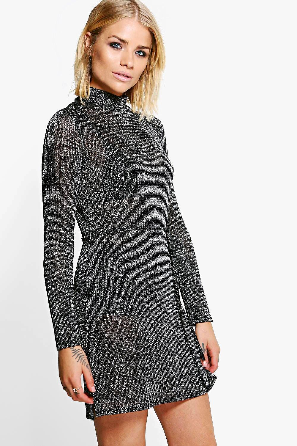 Frieda High Neck Knitted Dress