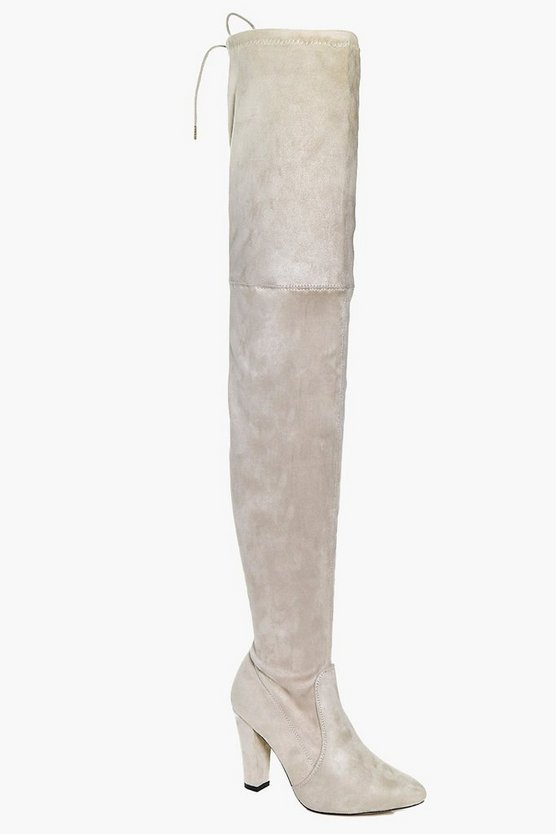 Vanessa Block Heel Thigh High Boot