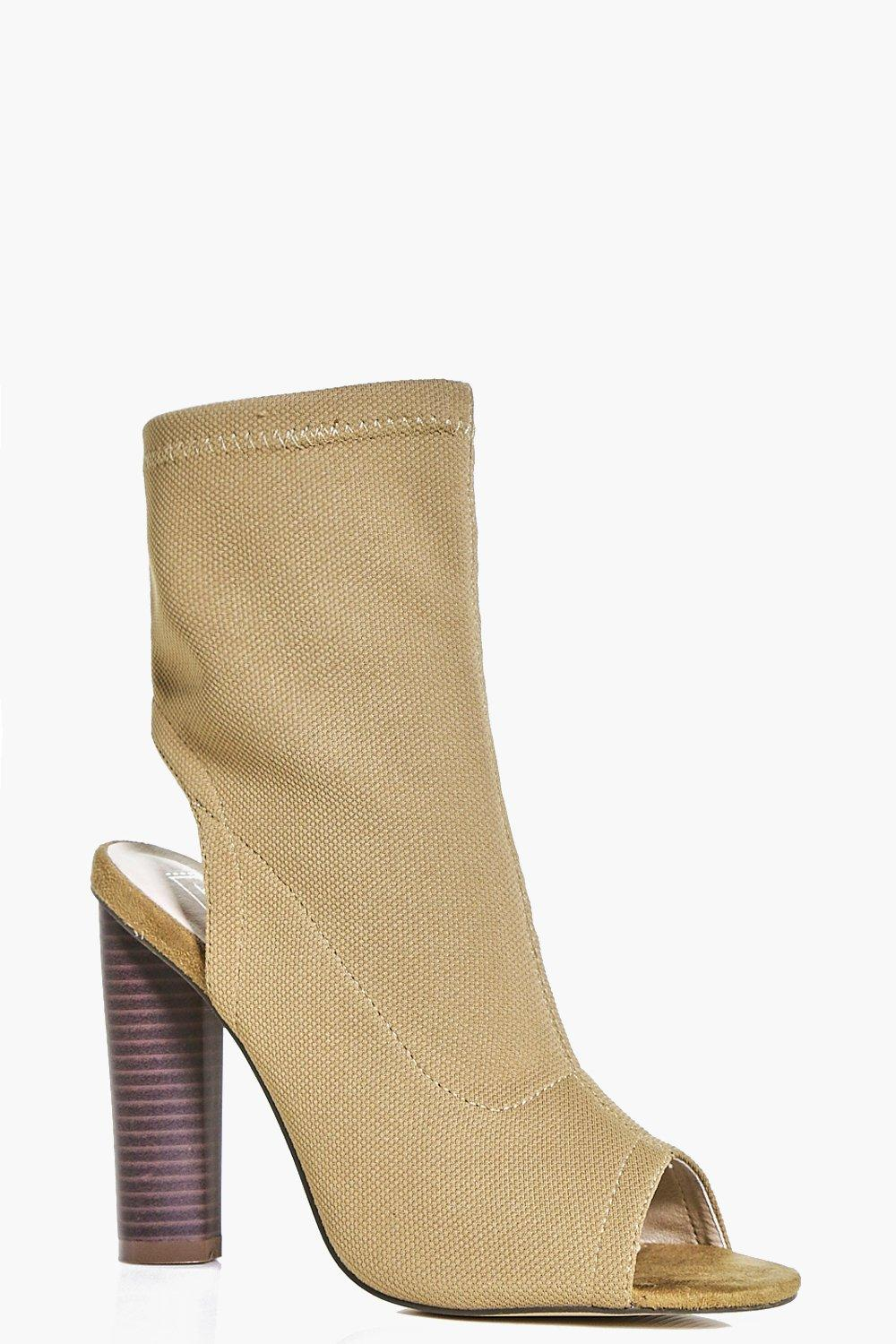 Tegan Peeptoe Open Back Shoe Boot