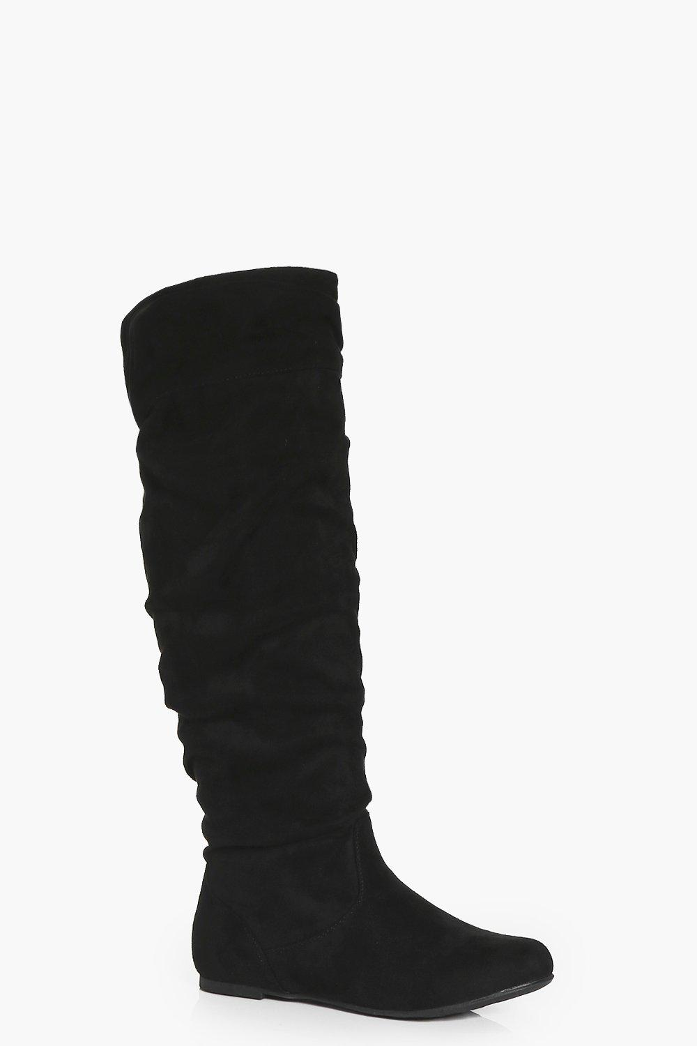 Tegan Ruched Knee High Boot