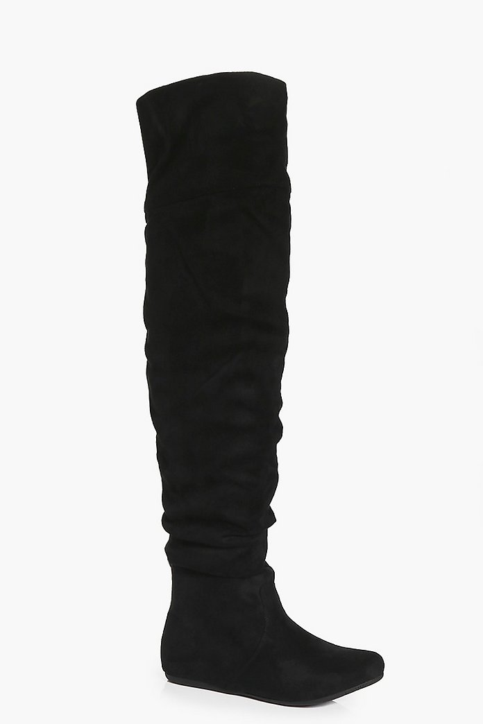 Rebecca Ruched Over The Knee Boot