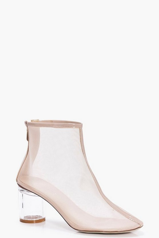 Eve Clear Low Heel Mesh Boot