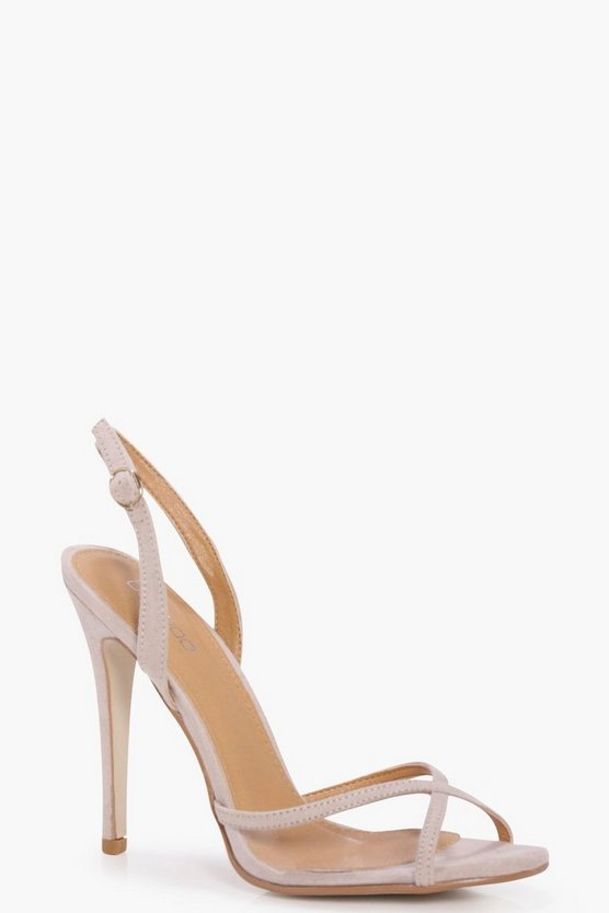 Julia Clear Panel Slingback Two Part