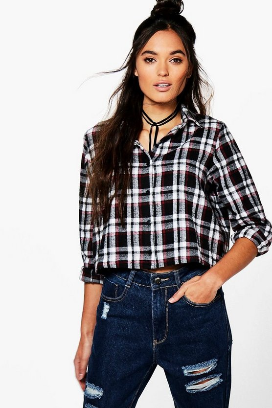 Lexi Checked Crop Shirt