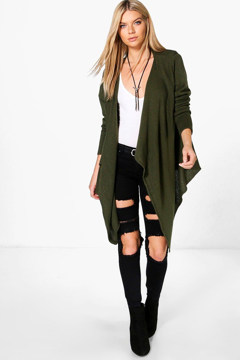 Gemma Waterfall Cardigan | Boohoo