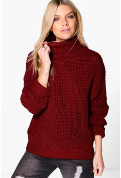 Rosa Chunky Roll Neck Jumper