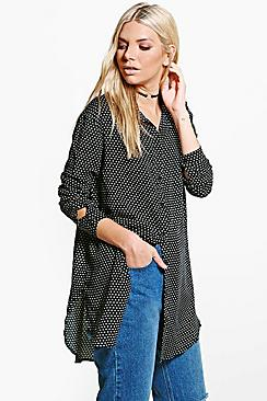 Isobel Polka Dot Oversized Shirt