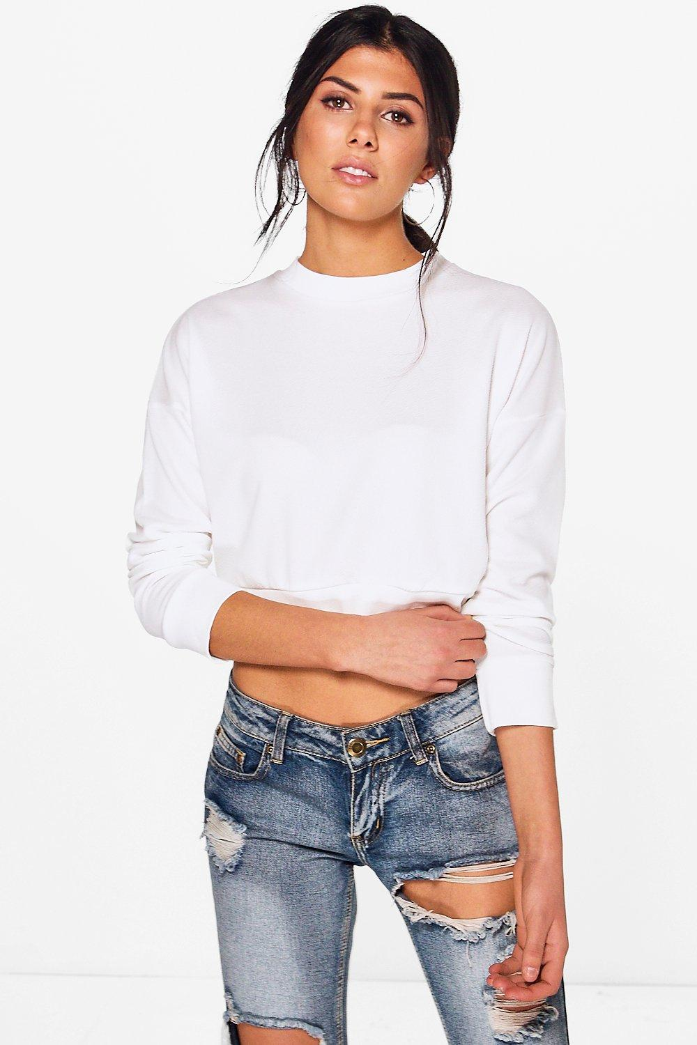 Betty Drop Arm Crepe Sweat