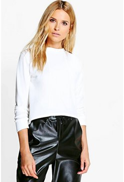 Kelly Panelled Crop Sweat