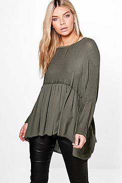 Maddison Oversized Frill Bottom Knitted Jumper
