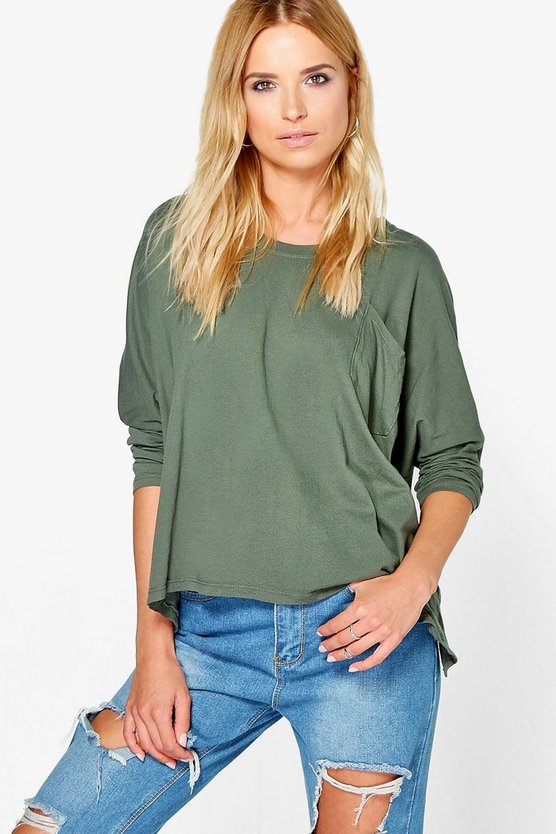 Elizabeth Boucle Knit Pocket Oversized Jumper