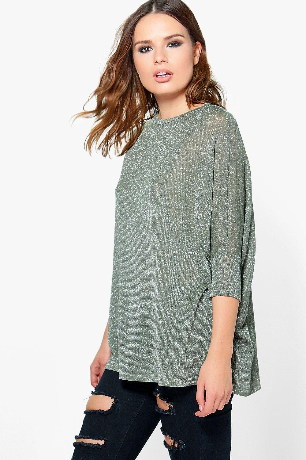 Becca Oversized Metallic Knit Jumper