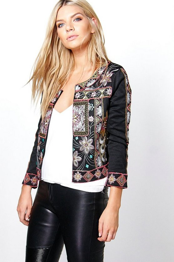 Ella Embroidered Trophy Jacket
