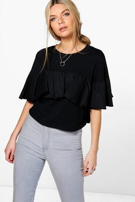 Isabelle Frill Front Jersey Top