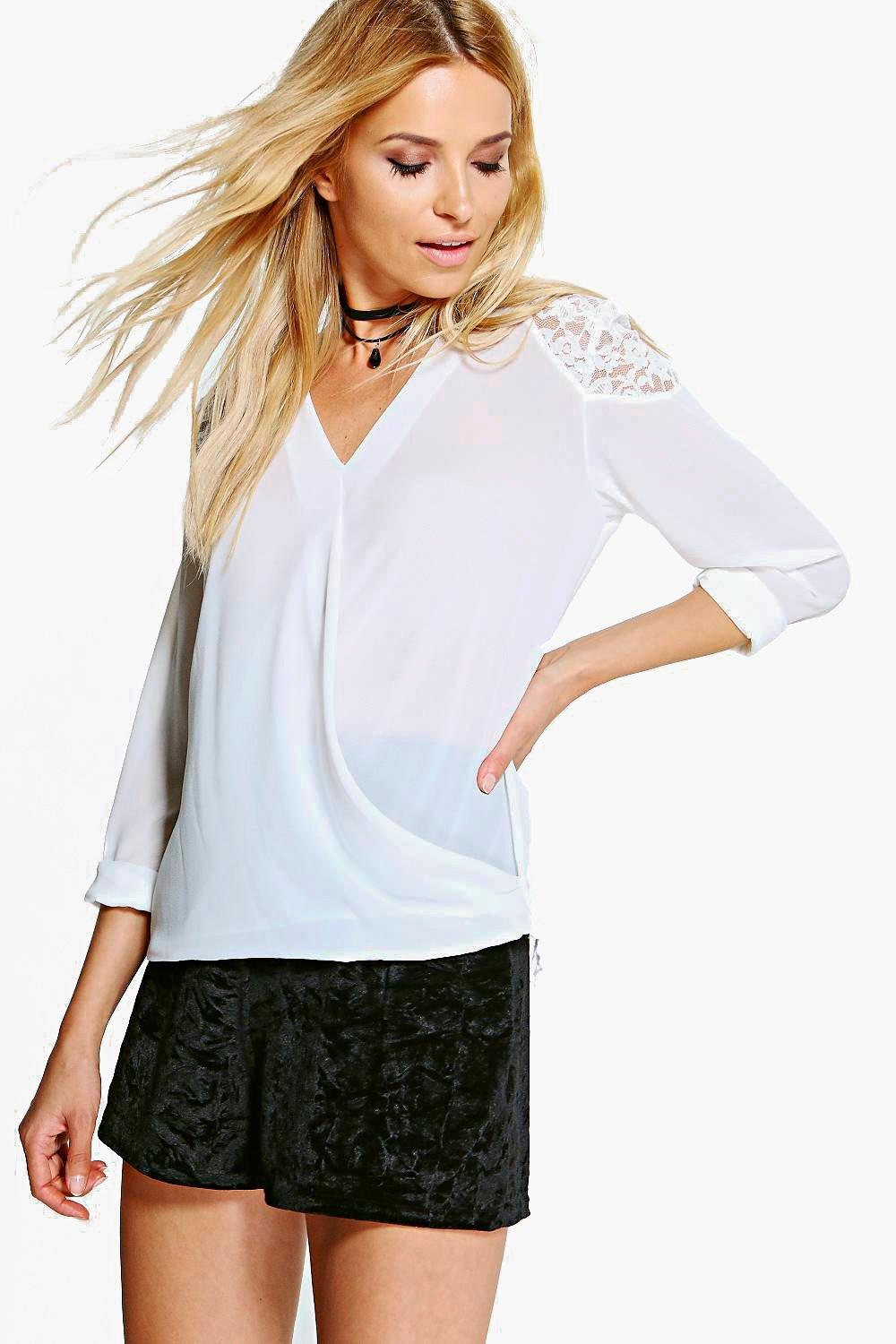 Hailey Lace Insert Top