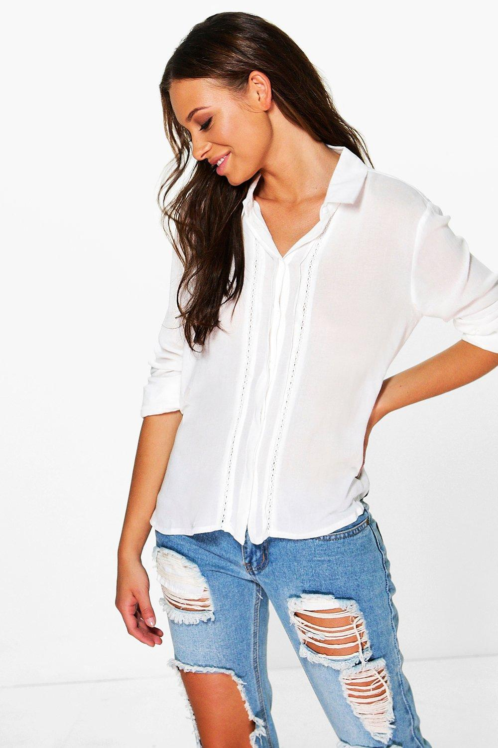 Natalie Concealed Placket Woven Shirt