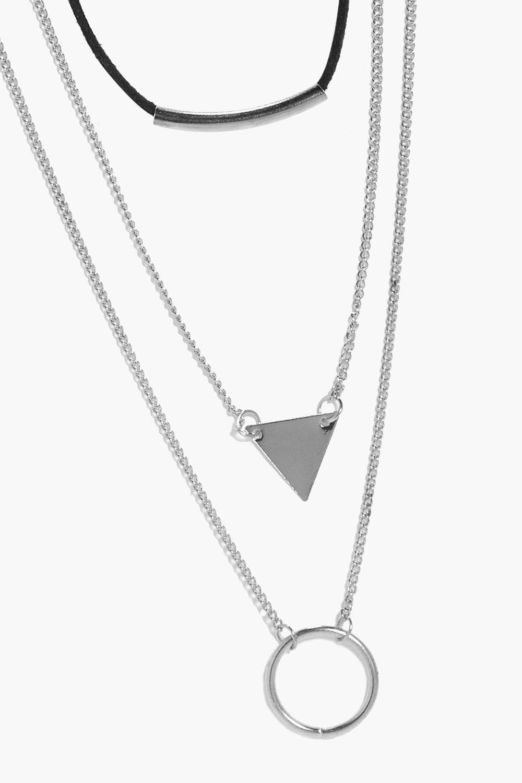 Boohoo-conjunto-de-gargantilla-y-collar-geometrico-en-capas-hope-para-Mujer