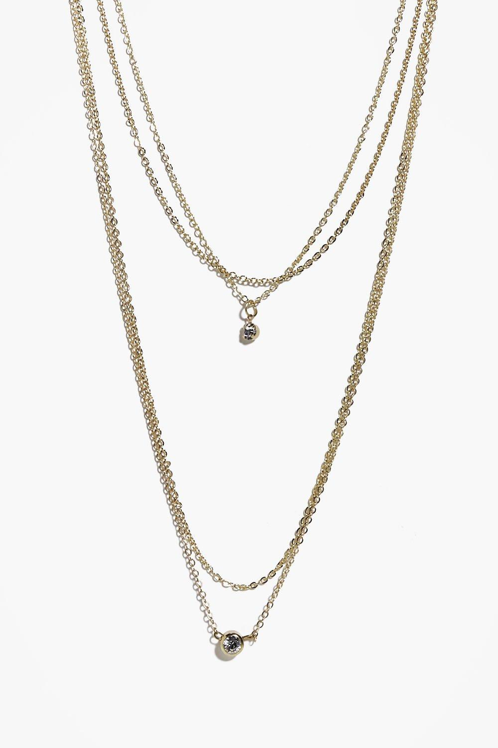 Kara Multi Chain Pendant Layered Necklace