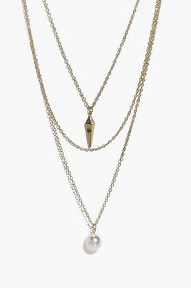 Neve Pearl Multi Chain Layered Necklace