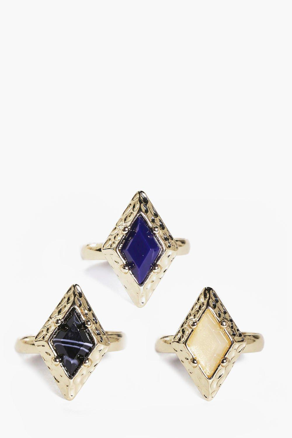 Lizzie Square Setting Stone Ring Pack