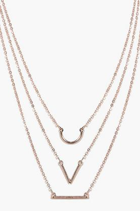 Kate Triple Layered Geo Skinny Necklace