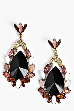 Lydia Statement Gem Earrings