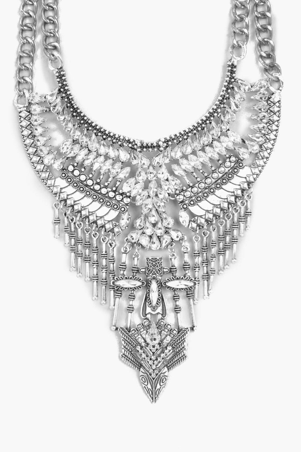 Tia Statement Layered Diamante Necklace