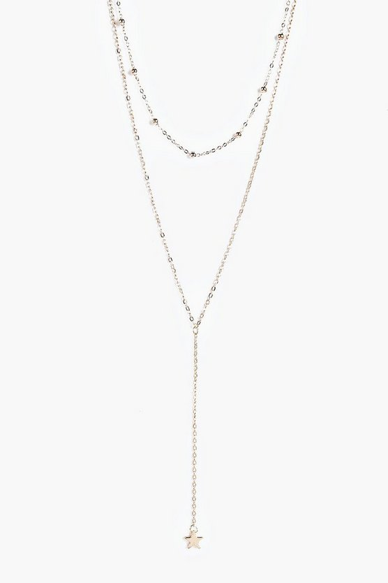 Rebecca Plunge Layered Necklace