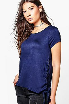 Saskia Lace Up Oversized T-Shirt