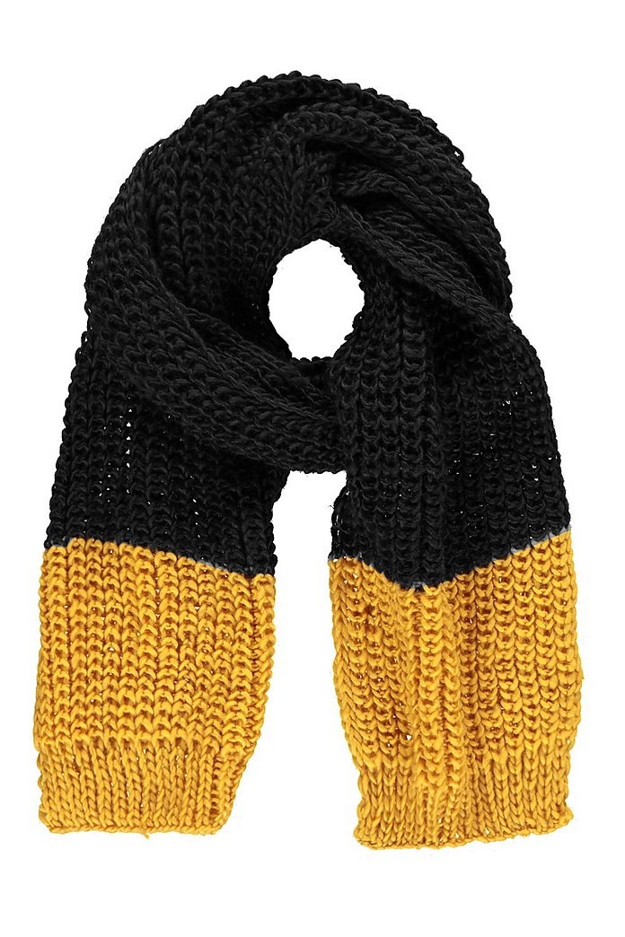 Frankie Contrast Tip Knitted Scarf