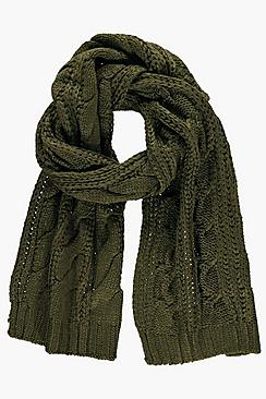 Alice Chunky Cable Knit Scarf