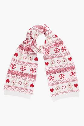 Frances Gingerbread Fairisle Knitted Scarf