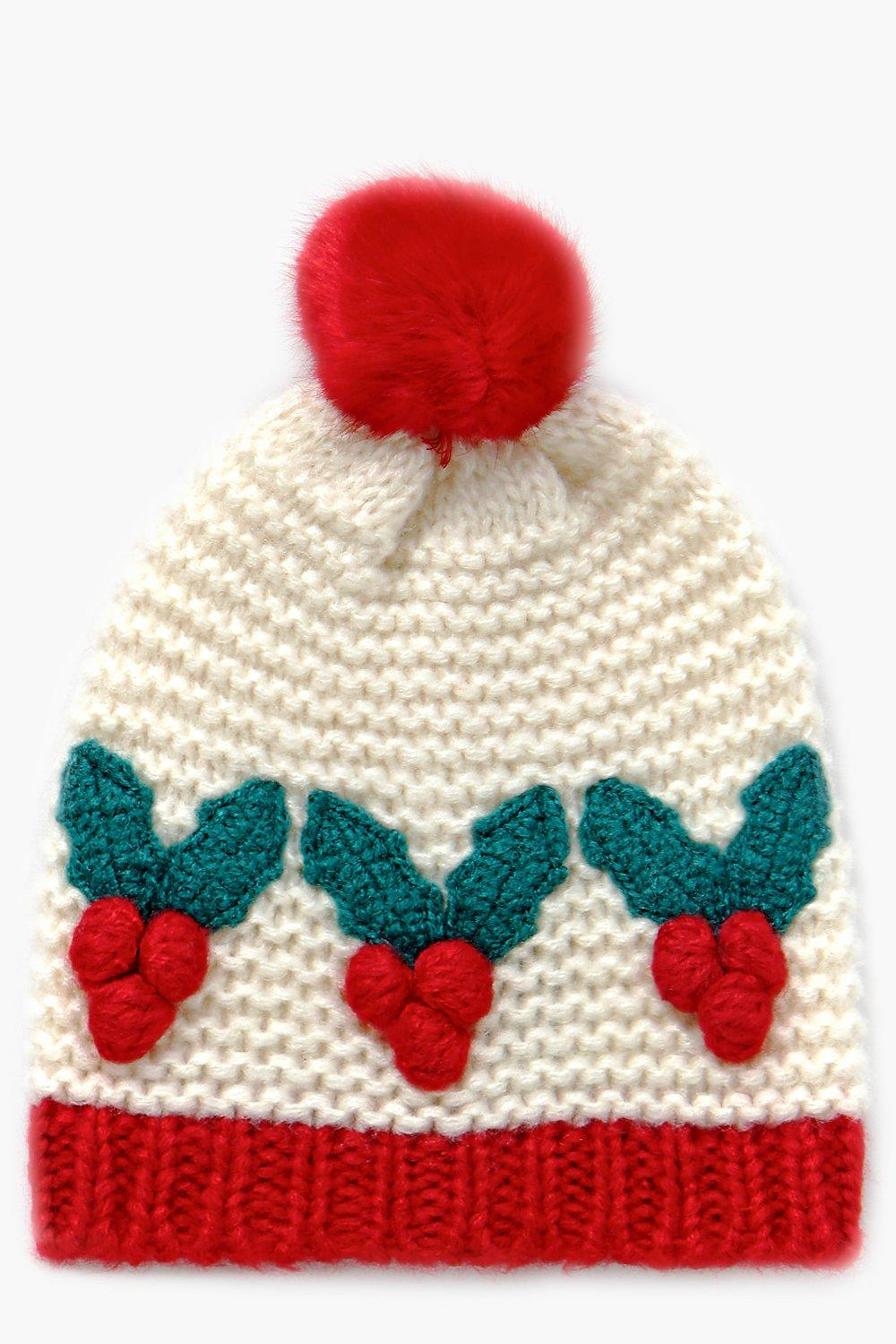 Julia Holly Knitted Pom Beanie Hat