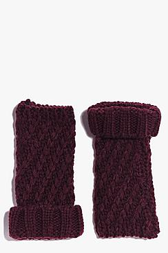 Lily Chunky Knit Handwarmer Mittens