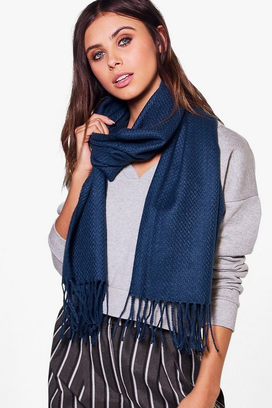 Nina Supersoft Tassel Edge Scarf