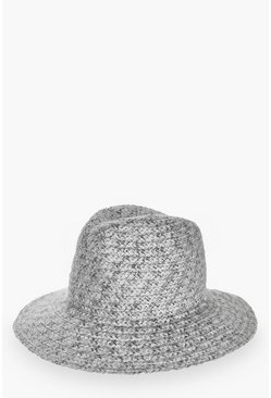 Violet Knitted Fedora