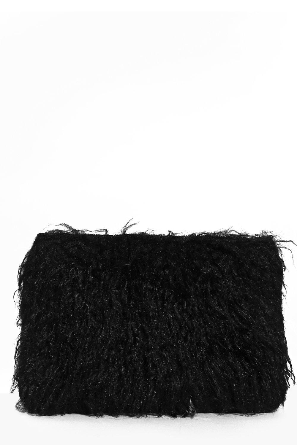 Skye Mongolian Faux Fur Clutch Bag