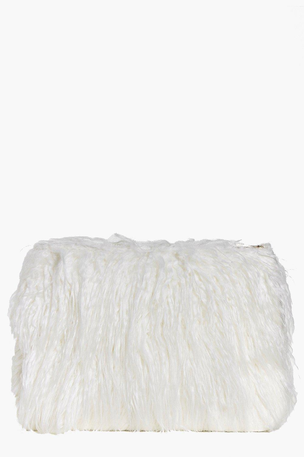 Lacey Mongolian Faux Fur Clutch Bag