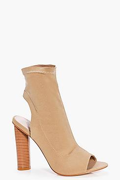 Laila Peeptoe Open Back Shoe Boot